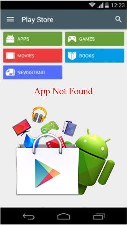 App Not Found